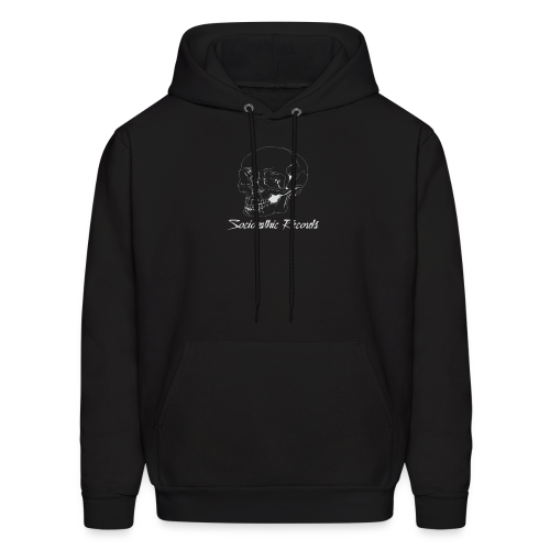 White Skull With Sociopathic Label - Men's Hoodie