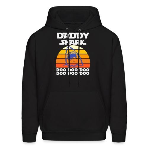 Daddy Shark doo doo doo funny gift sunset T-shirt - Men's Hoodie