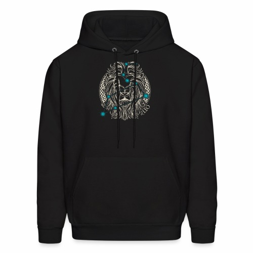 LEO Zodiac Constellation with Celtic Ring - Men's Hoodie
