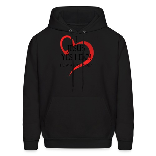 i love jesus, yes i do! how about you - Men's Hoodie
