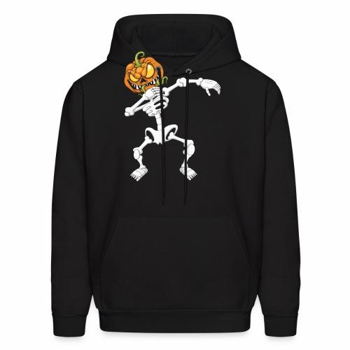 Funny Dabbing Skeleton Pumpkin Halloween T-Shirt - Men's Hoodie