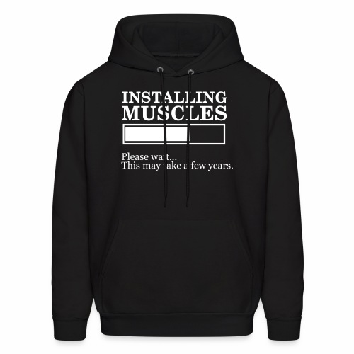 Insalling muscle - Men's Hoodie