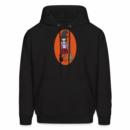 Gigi the good witch (orange oval background) - Men's Hoodie