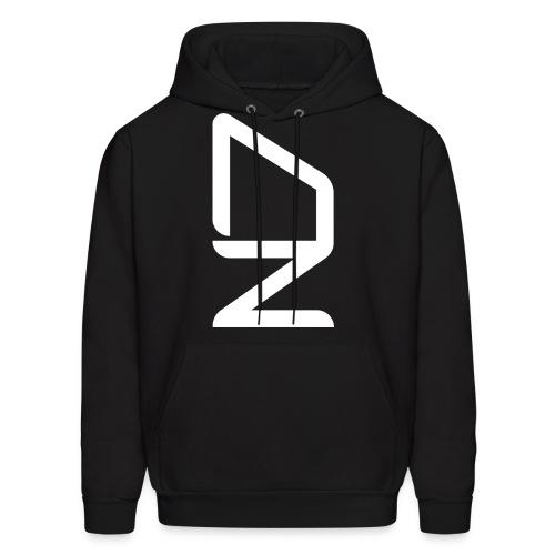 DZ logoWhite - Men's Hoodie
