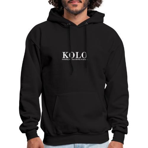 Kolo - Revealing the true identity of people - Men's Hoodie