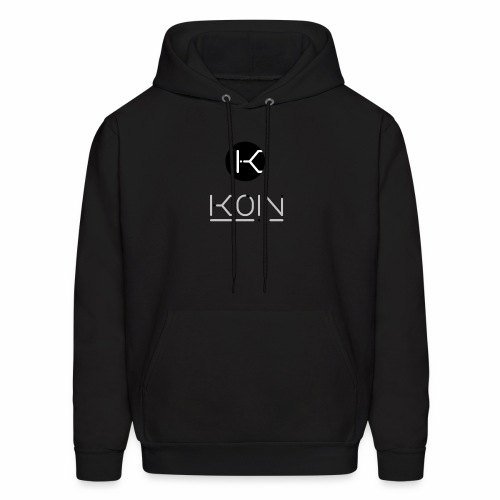KOIN LOGO GRAYSCALE TRANSPARENT - Men's Hoodie