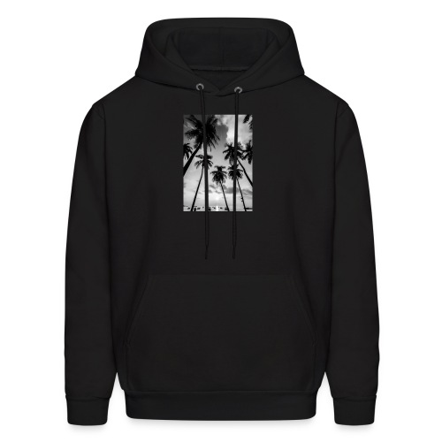 Black and white palm tree - Men's Hoodie