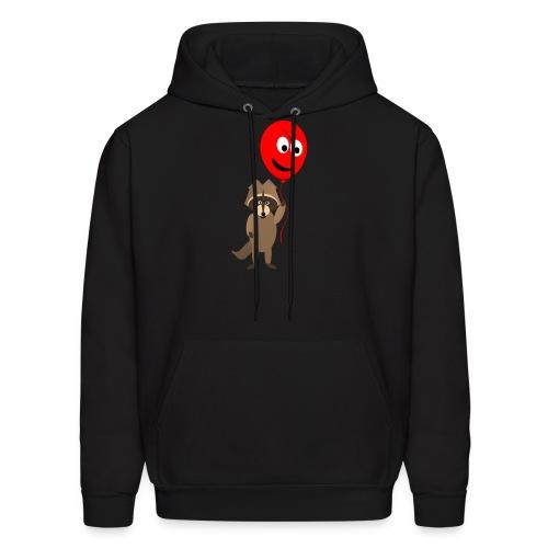 Raccoon and Balloon Cartoon Shirt - Men's Hoodie