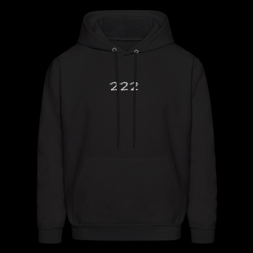 222 Chalk Style Pocket Logo - Men's Hoodie