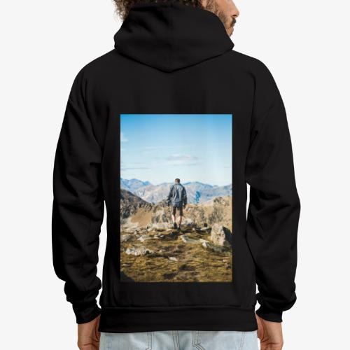 man hiking - Men's Hoodie