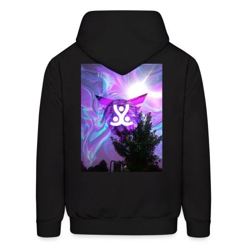 Chill purple/black hippie desighn - Men's Hoodie