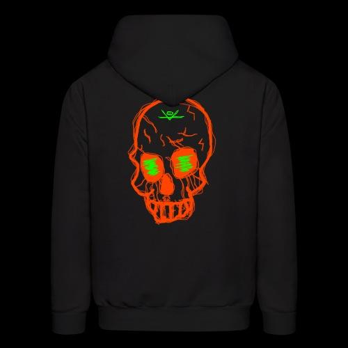 grunge skull - Men's Hoodie