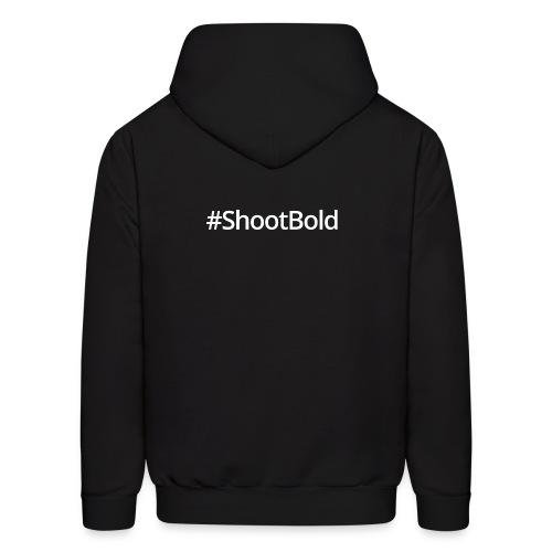 #ShootBold: White Font - Men's Hoodie