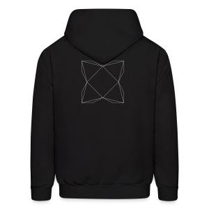 haxe logo outline - Men's Hoodie