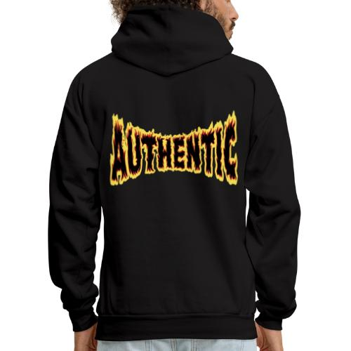 authentic on fire - Men's Hoodie