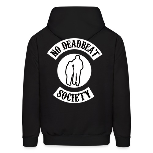 NDBS WHITE ON BLACK png - Men's Hoodie