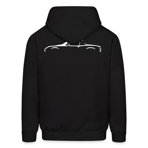 Sportscar Profile for dark colored shirts - Men's Hoodie