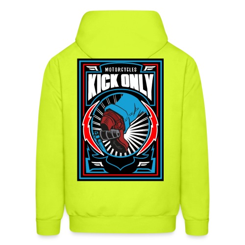 Motorcycles Kick Only - Men's Hoodie