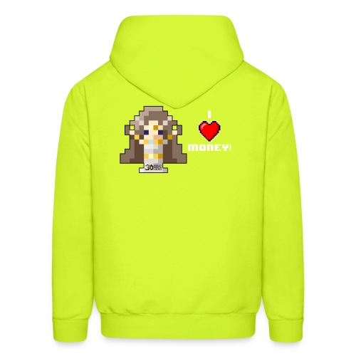 Time Goddess - I HEART Money (White text) - Men's Hoodie