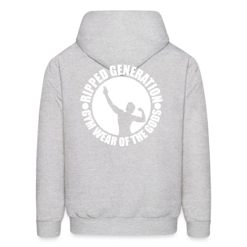 Ripped Generation Gym Wear of the Gods Badge Logo - Men's Hoodie