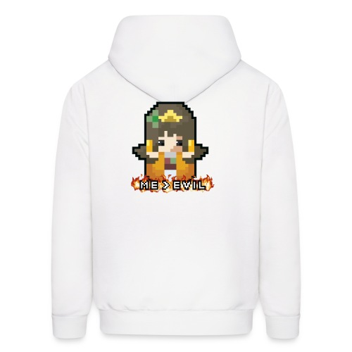 Princess ME v EVIL (White logo) - Men's Hoodie