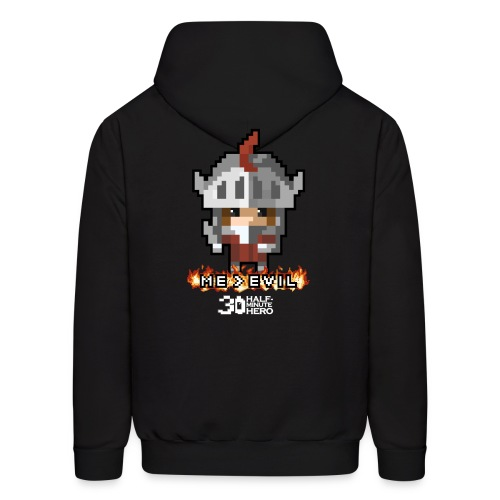 Knight ME v EVIL (White logo) - Men's Hoodie