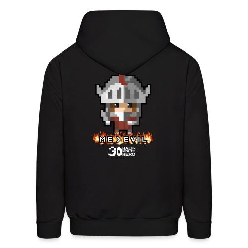 Knight ME v EVIL (White logo) - Men's Hoodie