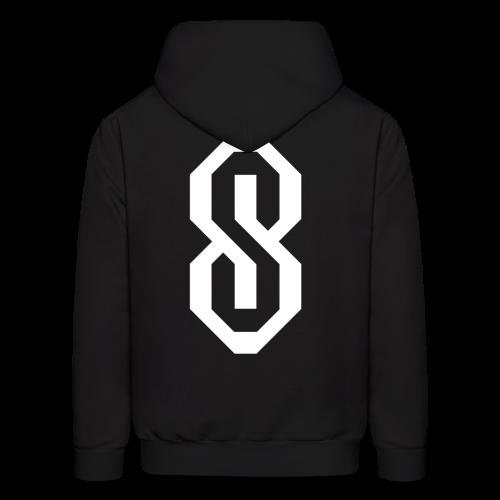 White S Logo - Men's Hoodie