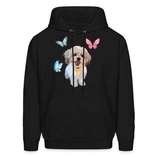 Shih Tzu Butterflies design - Men's Hoodie