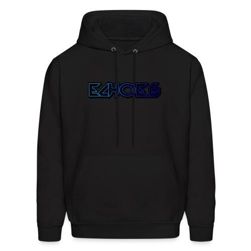 ECHO™Original Blue Logo Hoodie Black - Men's Hoodie