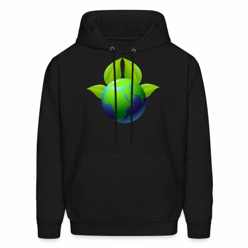 Earth with Leaves - Save the planet - Men's Hoodie