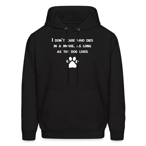 Dog lives in a movie - Men's Hoodie