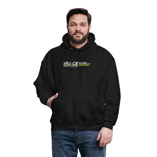 iRace4Life.org Gray Logo w/ iRace-iWin-iGive! - Men's Hoodie