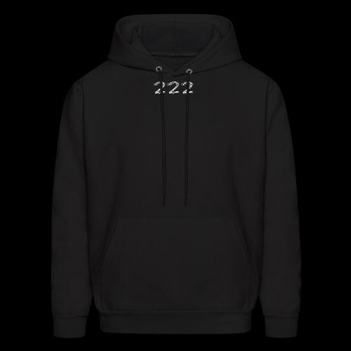 222 Chalk Style Pocket Logo - Men's Hoodie
