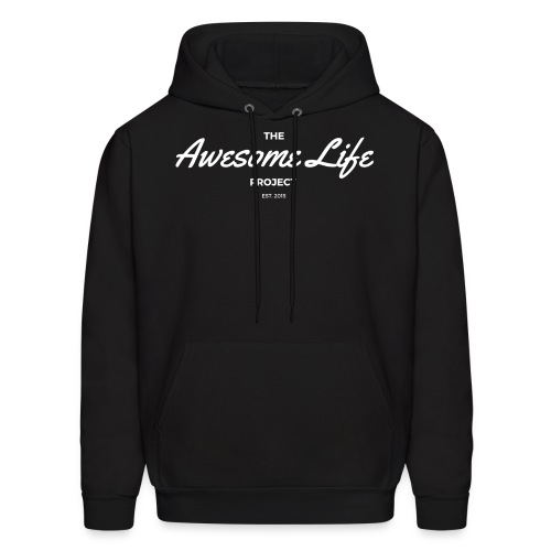 The AwesomeLife Project Logo White - Men's Hoodie
