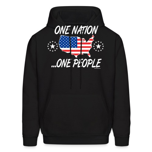 One Nation One People 2012 FRONT TRANSPARENT BACKG - Men's Hoodie