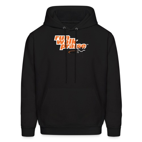 Run, Walk, Praise Fitness Shirt - Orange - Men's Hoodie