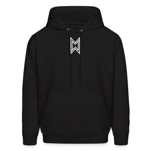 TheMWarrior White Logo Black T-Shirt - Men's Hoodie