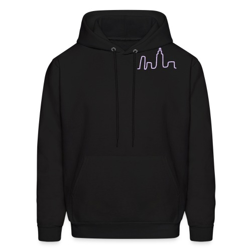 City Scape Neon Lights - Men's Hoodie