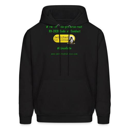 rm Linux Code of Conduct - Men's Hoodie