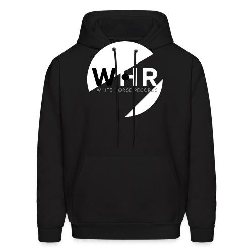 White Horse Records Logo - Black - Men's Hoodie
