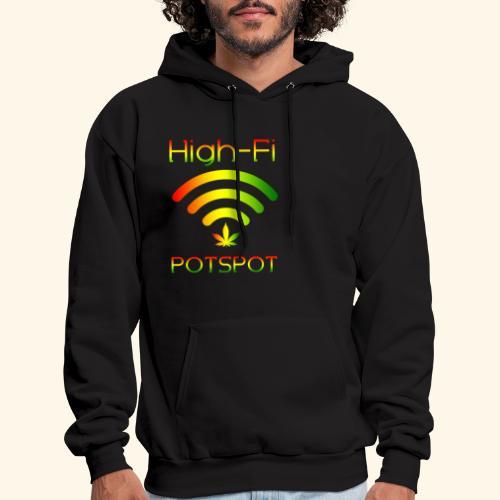 High-Fi Potspot - Weed Wlan - Cannabis Network - Men's Hoodie