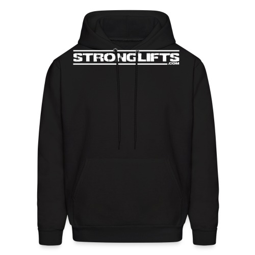 strongliftsfullwhite - Men's Hoodie