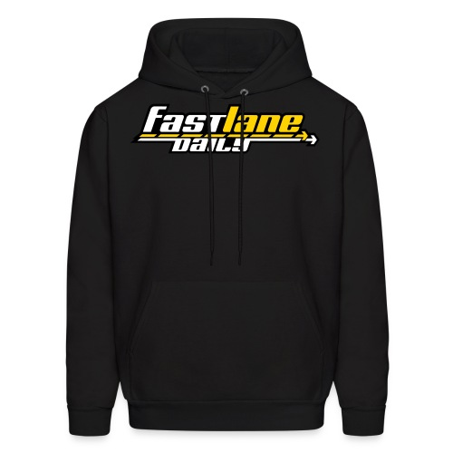Fast Lane Daily logo in 3 colors! - Men's Hoodie