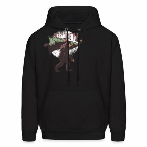 Bigfoot christmas - Men's Hoodie