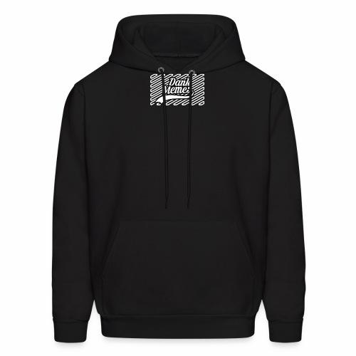 Dank Memes Striped Logo - Men's Hoodie