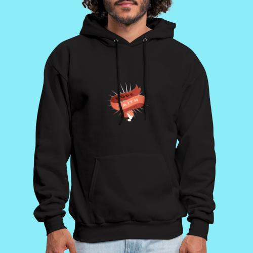 HOPE FAITH AND LOVE ribbon floating in the air - Men's Hoodie