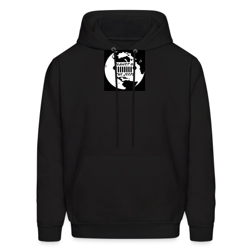 jeep logo white logo - Men's Hoodie