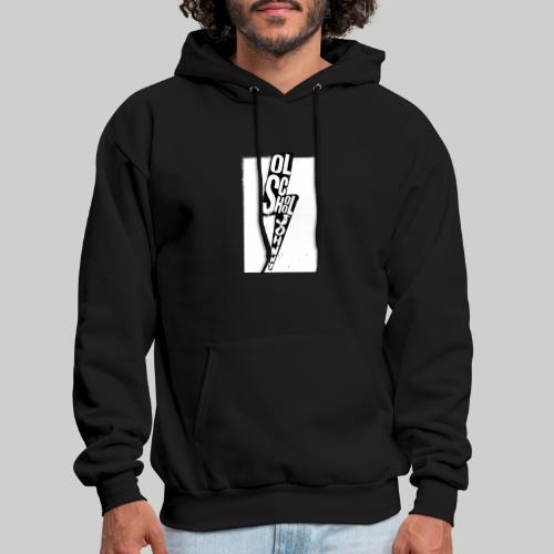 Ol' School Johnny Black and White Lightning Bolt - Men's Hoodie