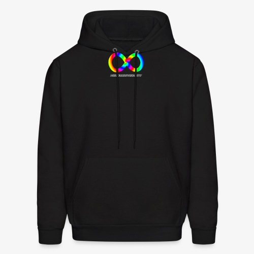 Neurodiversity with Rainbow swirl - Men's Hoodie
